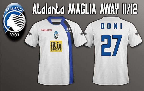Atalanta Away 11/12