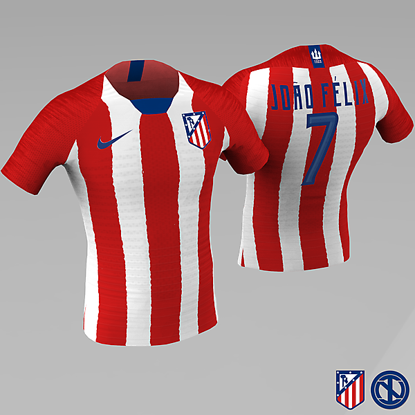 Atlético de Madrid | Home Kit Concept (using crest from CRCW203)