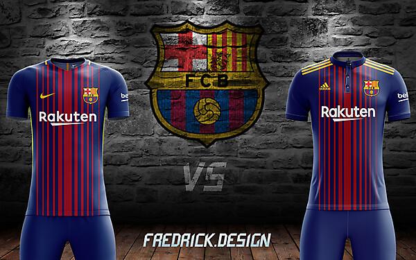 Barcelona x Nike VS Adidas