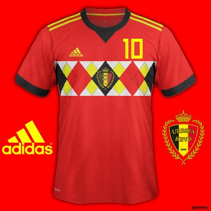 d500c61e1cf Belgium World Cup 2018 Home Fantasy Kit