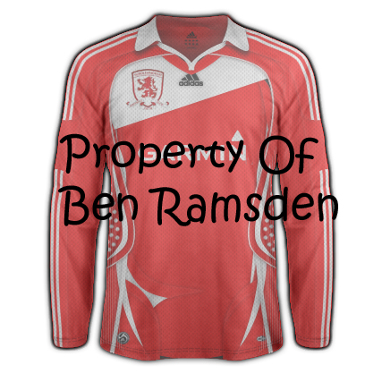 Middlesbrough home kit 10/11 compitition entry