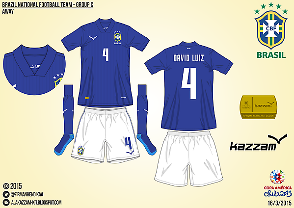 Brazil Away - Group C, 2015 Copa América