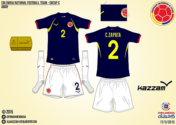 Colombia Away - Group C, 2015 Copa América