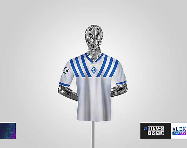 Dynamo Kyiv - Retro UCL Shirt - Home