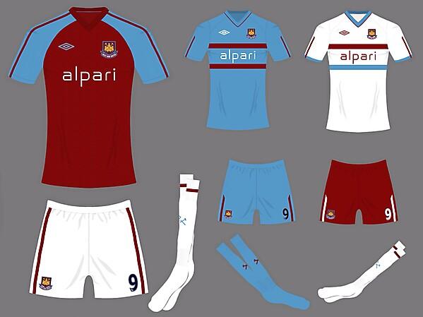 West Ham kits