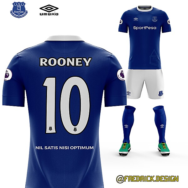 Everton x Rooney comes back