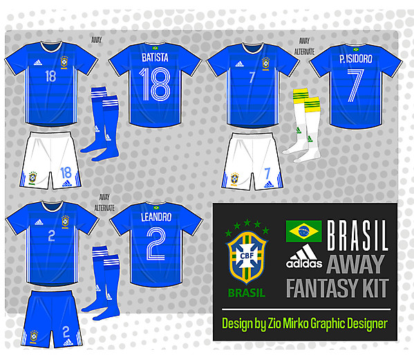 Fantasy Adidas Brazil AWAY