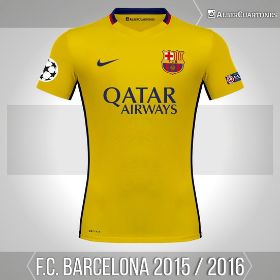 super popular 5741a edc12 F.C. Barcelona 2015 / 2016 Away Shirt (according to leaks)