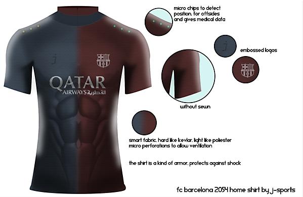 FC Barcelona 2054 home jersey by J-sports