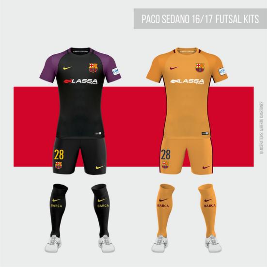wholesale dealer 898d4 960af FC Barcelona Futsal 16/17 Goalkeeper Kits