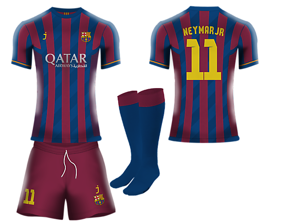 pretty nice c7483 8b071 FC Barcelona home kit by J-sports