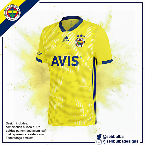 Fenerbahce Yellow Away Jersey