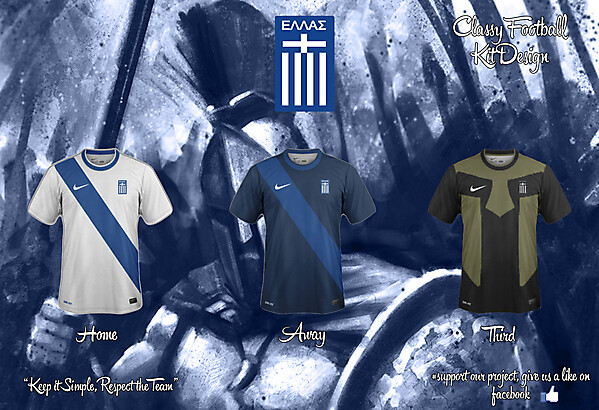 Greece Home, Away and Third Fantasy Kit 15/16
