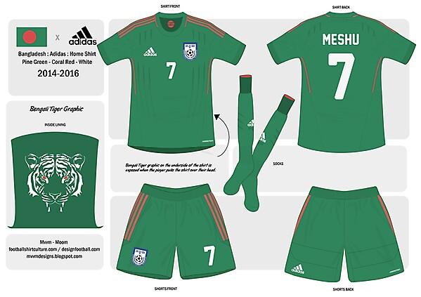Adidas Bangladesh Home Kit