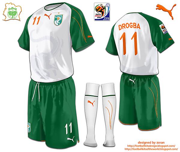 Ivory Coast World Cup 2010 fantasy away