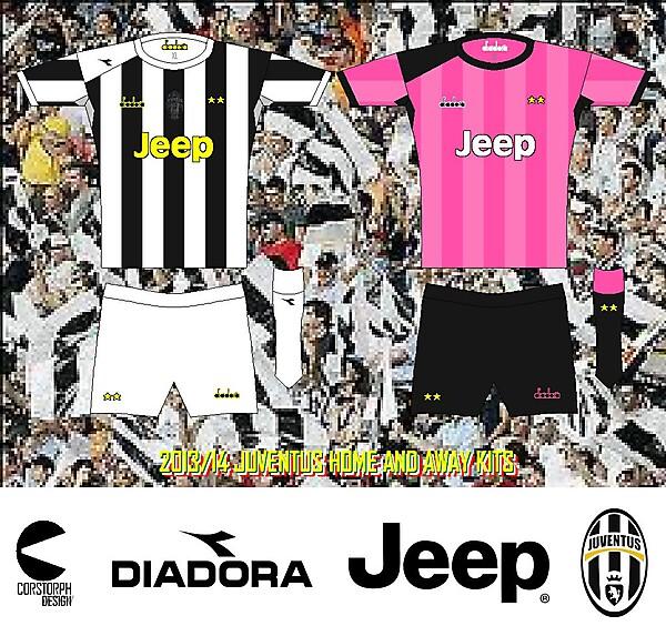 Juventus 013-14 diadora Home and Away