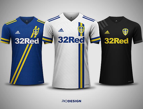 Leeds United FC   Adidas   Home, Away & Third