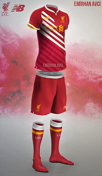 Liverpool 16/17 Home Kit Design