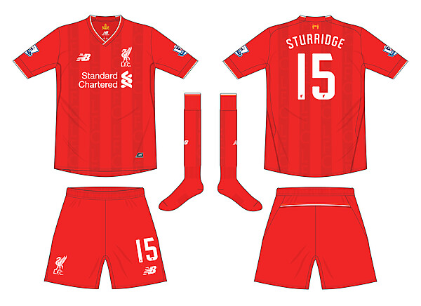 Liverpool New Balance Home Kit 2015-16