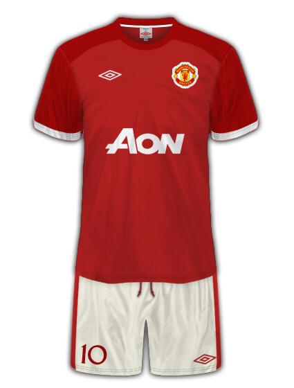 Man Utd Umbro Home Kit V2