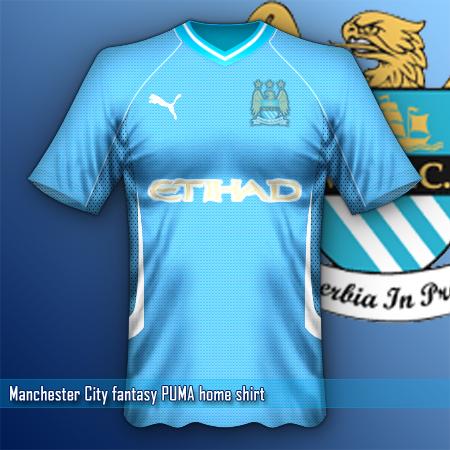 Manchester City puma fantasy home shirt