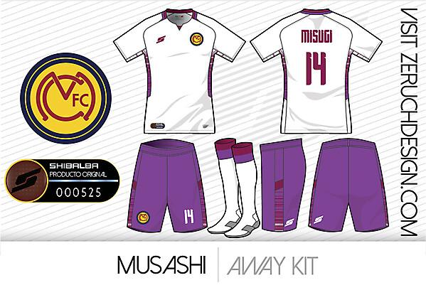 Musashi Away kit