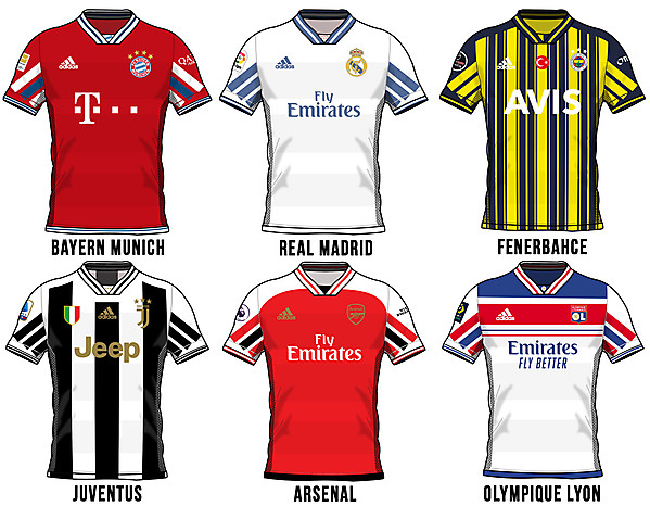 My Adidas template on clubs