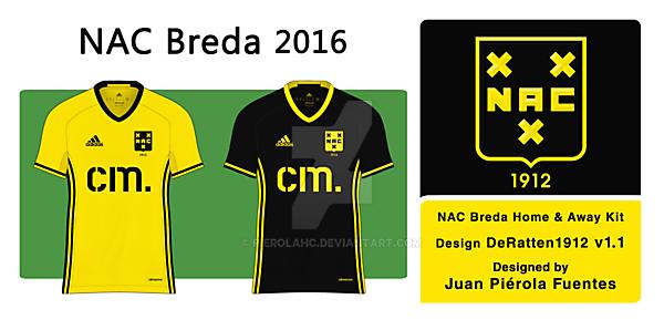 NAC Breda home and away shirts