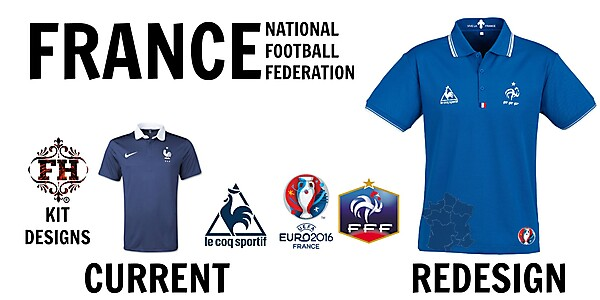 New French National Kit By Le Coq Sportif (for 2016)