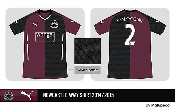 Newcastle Puma away shirt 2014/2015