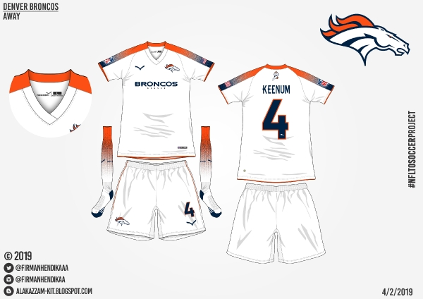 cheap for discount 5e20c debe1 NFLtoSoccerProject - Denver Broncos (Away)