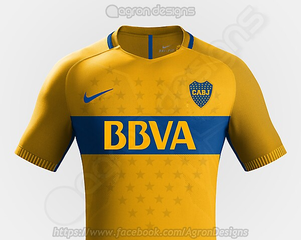 check out 887a4 eb355 Nike Boca Juniors Away Kit Concept