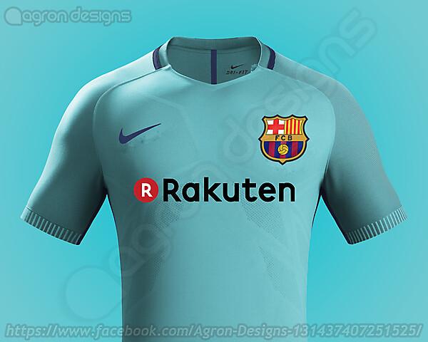 Nike Fc Barcelona 2017-18 Away Kit Based On Leaked Images