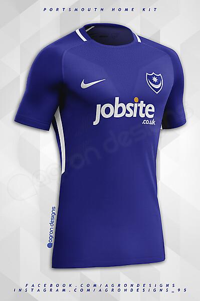 Nike Portsmouth FC Home Kit