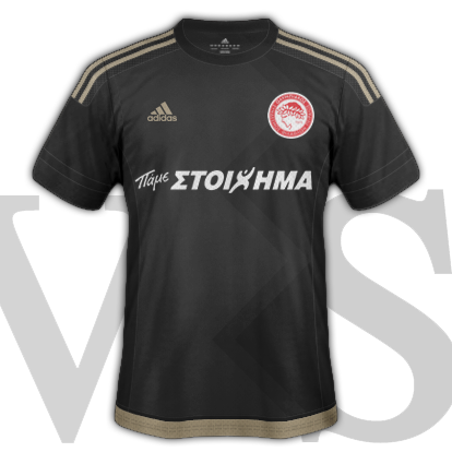 Olympiacos fantasy Away kit for 2015/16 with Adidas
