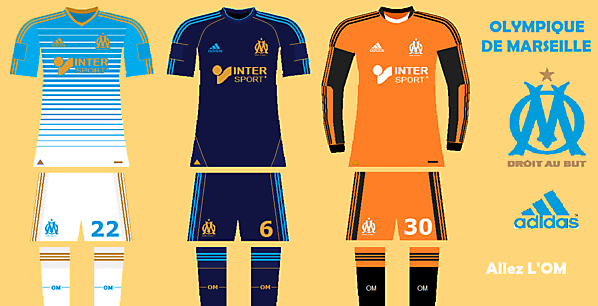 Olympique de Marseille concept kit 1