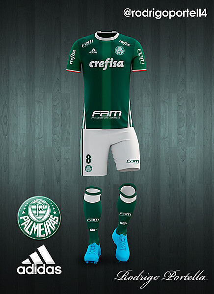 Palmeiras 2016-17 home kit