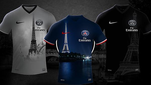 Paris Saint-Germain 17/18 Nike Kits