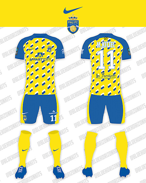 Pau FC Home Kit