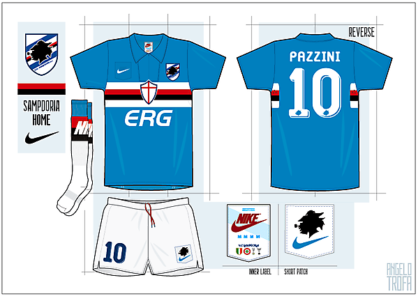 Sampdoria - Nike Template