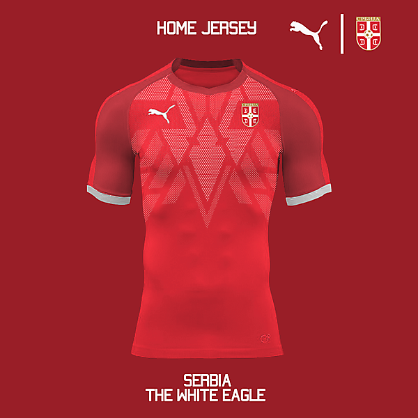 Puma Serbia 2018 Home Jersey Concept