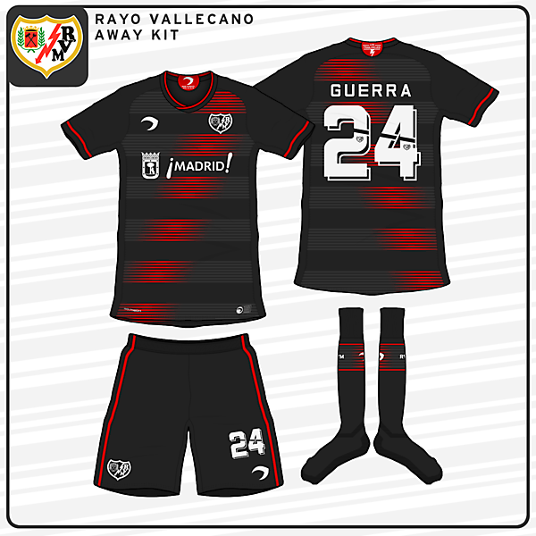 Rayo Vallecano | Away Kit