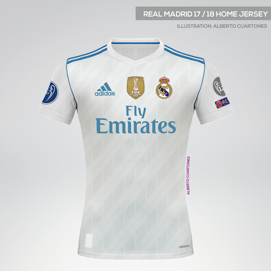 Real Madrid 17/18 Home Jersey