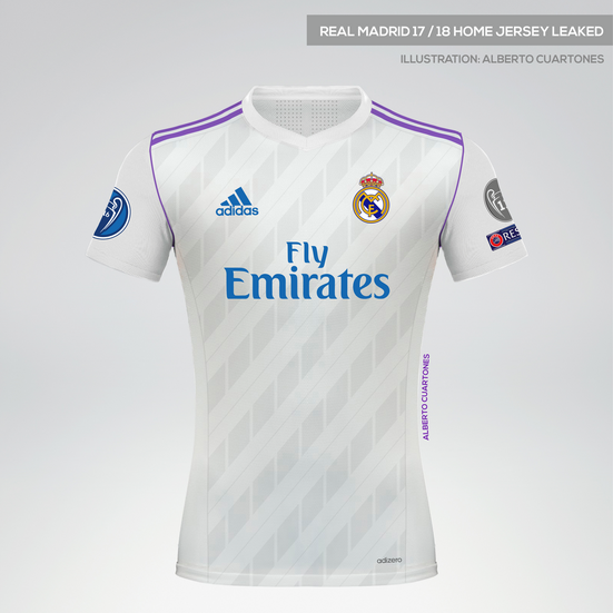 1aa0b3e0e5d Real Madrid 17 18 Home Jersey leaked