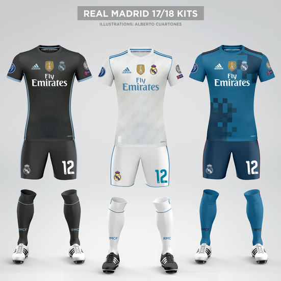 67eae9c0d Real Madrid 17 18 Kits
