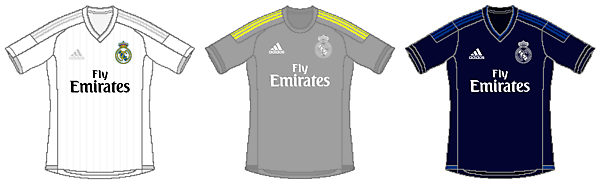 Real Madrid 2015/16 Adidas Kits