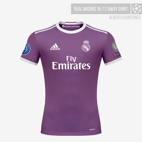 3780d3c32 Real Madrid 16/17 Away Jersey