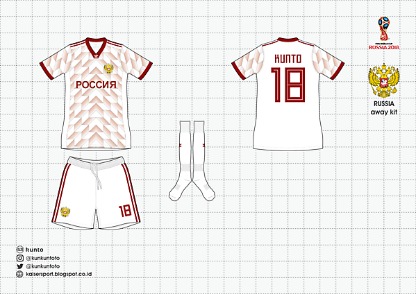 differently 4c788 a1423 Russia away kit