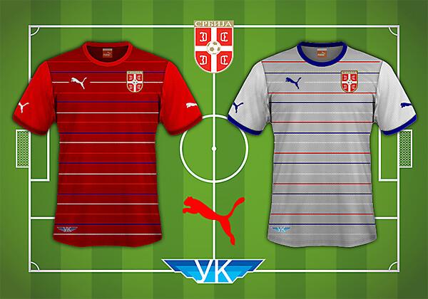 Serbia Puma Home Away Kit