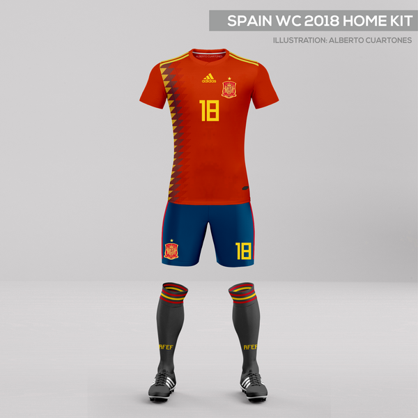 Spain World Cup 2018 Home Kit